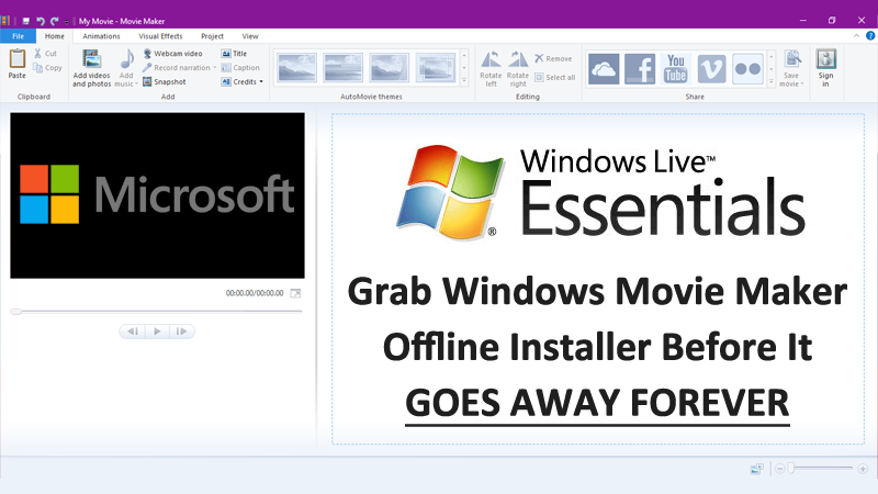 microsoft windows movie maker offline installer