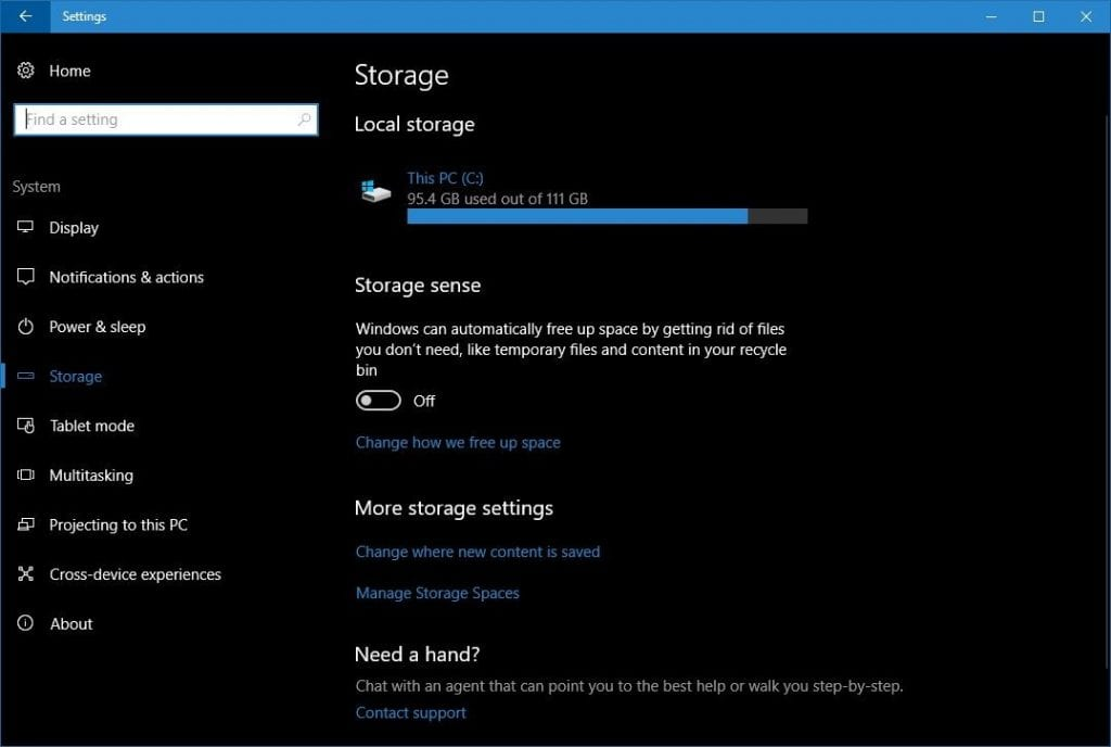 IMG 4 1024x688 - Now Windows 10 Will Automatically Delete Your Files To Free Disk Space