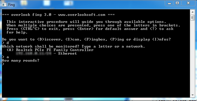 Using Fing IP Network Scanner