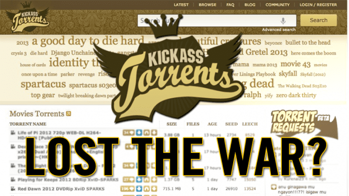 Kickass Torrents Lost The War? Rivals Continue To Grow!