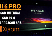 Xiaomi Mi 6 Pro To Feature 256GB Internal, 6GB RAM, Snapdragon 835