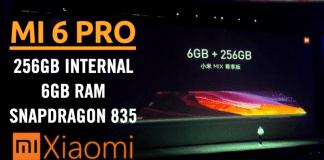 Xiaomi Mi 6 Pro To Feature 256GB Internal, 6GB RAM, Snapdragon 835