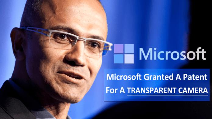 Microsoft Granted A Patent For A Transparent Camera