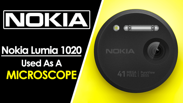 Nokia Lumia 1020 Used As A Microscope For DNA Sequencing