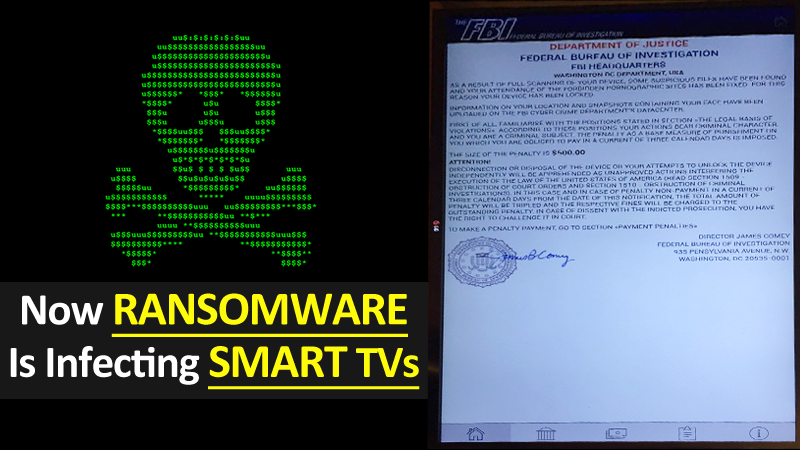 Now Ransomware Is Infecting Smart TVs