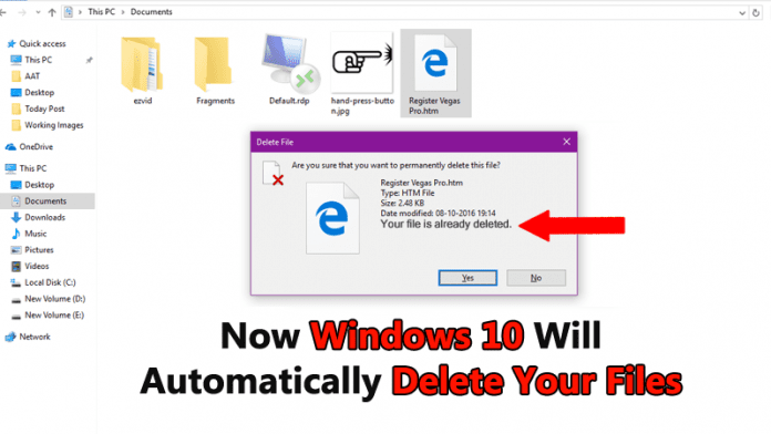 Now Windows 10 Will Automatically Delete Your Files To Free Disk Space