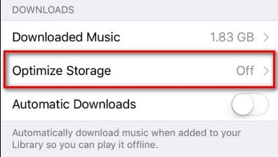 Optimize your iPhone's Music Storage to Automatically Free Up Space