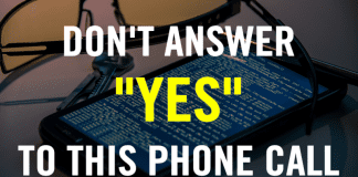 """Attention! Don't Answer """"YES"""" To This Phone Call"""