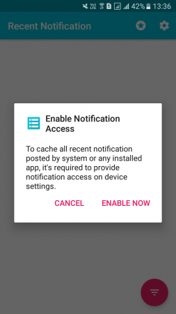 Using Recent Notification