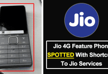 Reliance Jio 4G VoLTE-Enabled Feature Phone Spotted With Shortcuts To Jio Services