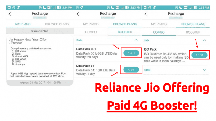 Reliance Jio Is Now Offering Paid 4G Booster To Users