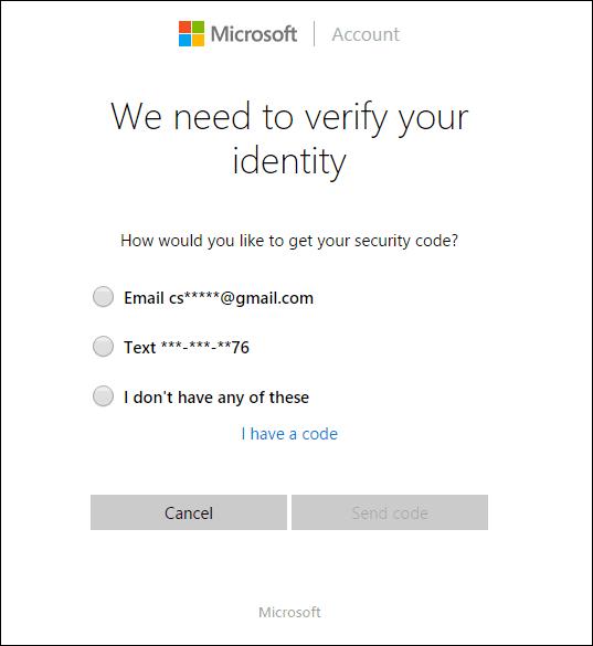 Reset Your Microsoft Account Password Online