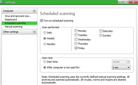 Make Use Of The Anti-Virus by setting up scheduled scans