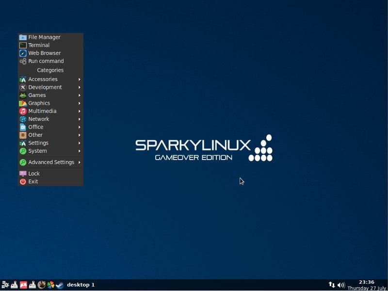 Sparky Linux - 10 Best Linux Distros For Gamers (2019 Edition)
