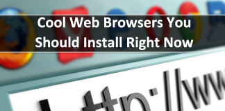 Top 5 Cool Web Browsers You Should Install Right Now