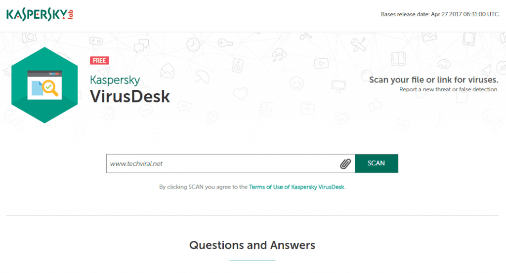 Using Kaspersky VirusDesk