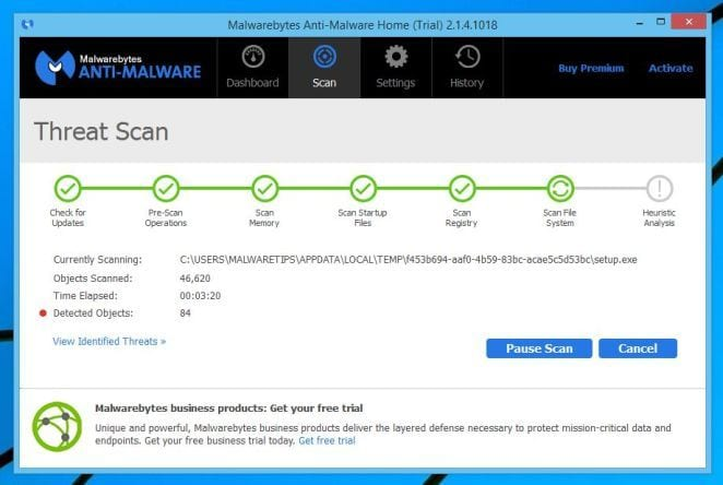 Virus and Malware Scan