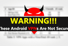Warning! These Android VPNs Are Not Secure