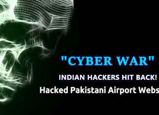 Cyber War Begins! Pakistani Airport Websites Hacked by Indian Hackers