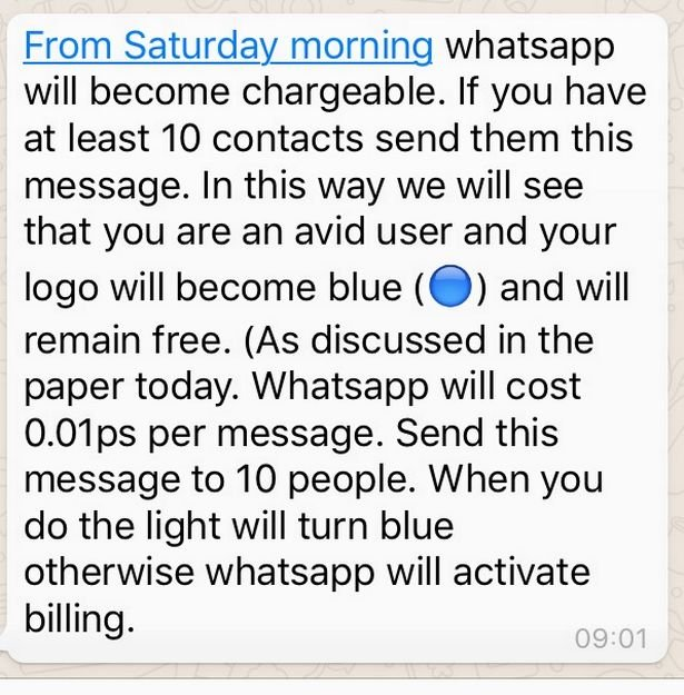 WhatsApp Hoax - WhatsApp To START CHARGING Users? Message Sparks Fear Of Incoming Costs