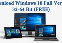 Windows 10 Free Download Full Version 32 or 64 Bit 2017