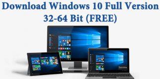 Windows 10 Free Download Full Version 32 or 64 Bit 2017