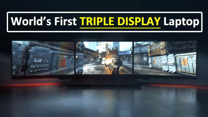 World's Most Insane Laptop Has Three Screens