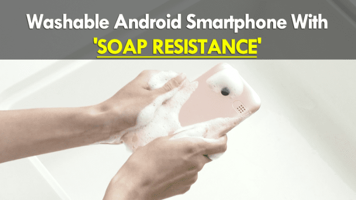 You Can Wash This Awesome Smartphone With Foaming Soap
