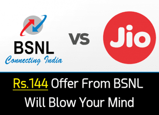 Forget Jio! This Rs.144 Offer From BSNL Is What We All Waiting For