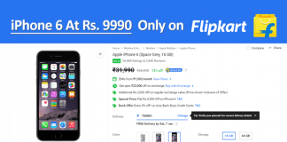iPhone 6 Is Now Available For As Low As Rs. 9990 On Flipkart
