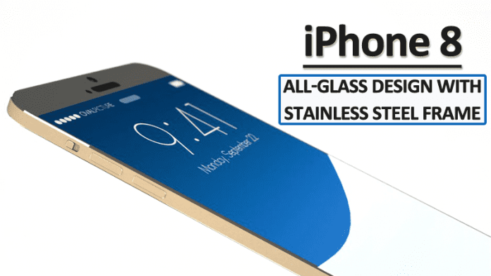 iPhone 8 To Sport All-Glass Design With Stainless Steel Frame