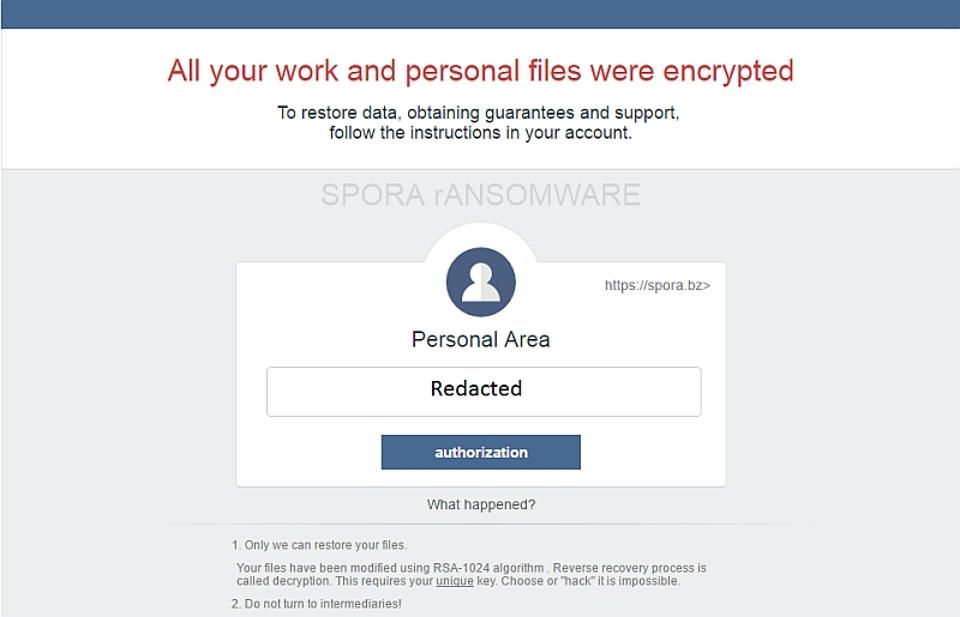 spora - Beware! Spora Is The Highly-Sophisticated Future Of Ransomware