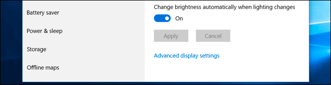 Adjust Brightness Automatically Based On Ambient Light