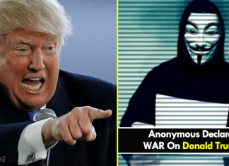 Anonymous Declares War On Donald Trump