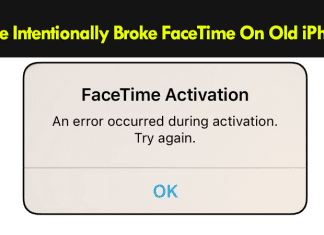 Apple Intentionally Broke FaceTime On Old iPhones