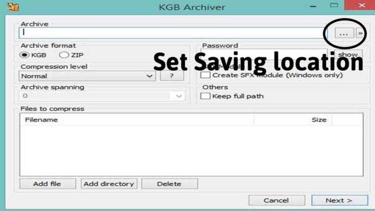 Using KGB Archiver