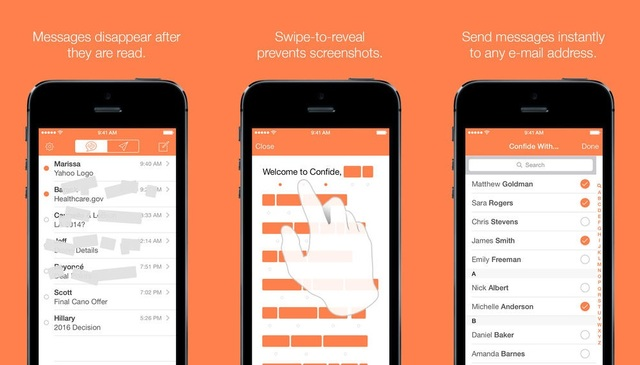 Confide App - White House Staffers Are Using This Self-Destructing Messages App