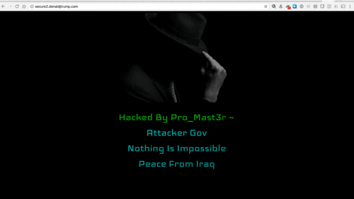 President Donald Trump's Website Hacked!