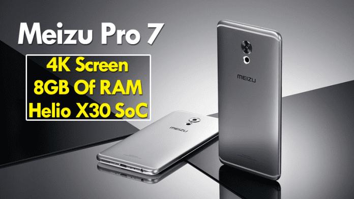 Meizu Pro 7 To Come With 4K Screen, 8GB Of RAM, Helio X30 SoC