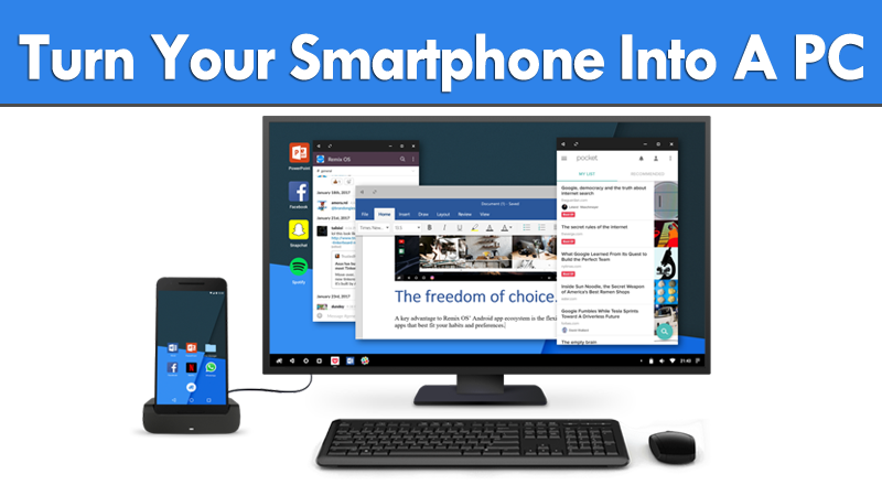 Remix OS For Mobile Turns Your Android Smartphone Into A PC