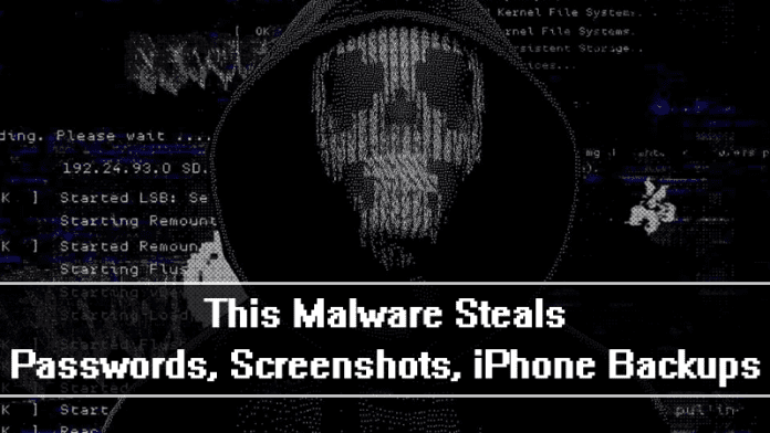 This New Mac Malware Steals Passwords, Screenshots, iPhone Backups