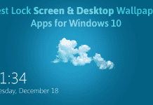 lock screen apps windows 10