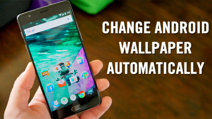 how to change android wallpaper after a particular time