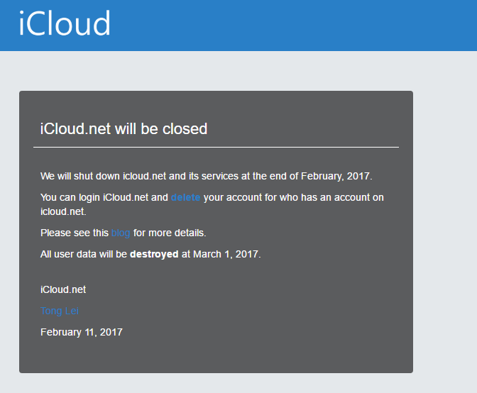 iCloud Shut Down - Apple Silently Bought This Domain And Shuts Down A Social Network