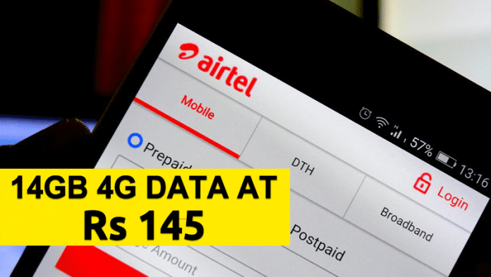 Airtel Is Offering 14GB 4G Data At Just Rs 145