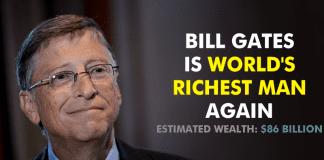 Microsoft CEO Bill Gates Is World's Richest Man Again