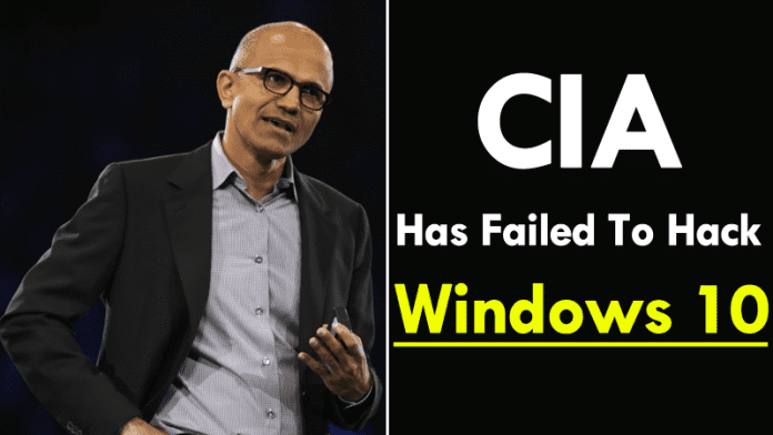 CIA Has Failed To Hack Windows 10: Microsoft