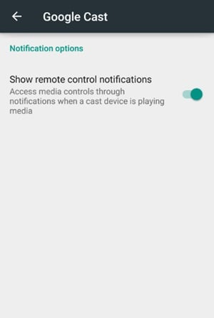 Disable Google Home Remote Control Notification on Android
