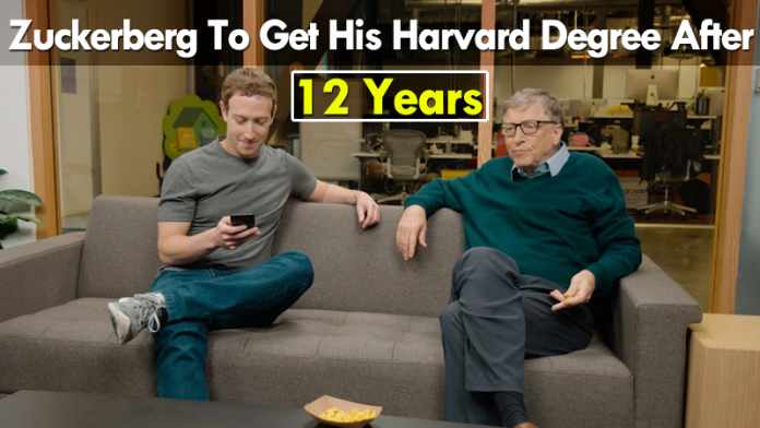 Facebook CEO Mark Zuckerberg Will Get His Harvard Degree After 12 Years