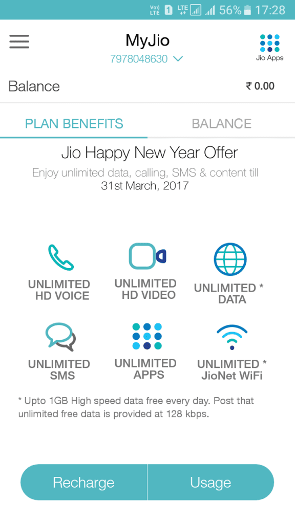 Finding 4G Data Usage/Available Data